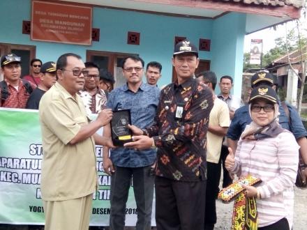 Kunjungan Pemerintah Kecamatan Muara Waho Di Desa Mangunan