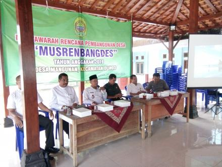 Musrenbangdes Desa Mangunan Tahun Anggaran 2019
